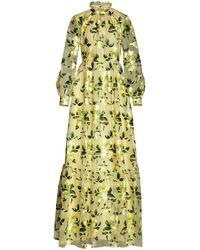 Erdem Clementine Floral-embroidered Silk Organza Gown - Multicolour