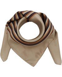 Acne Studios Velma Striped Silk Scarf - Brown