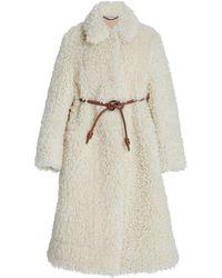 Stella McCartney Belted Faux Fur Coat - Multicolour