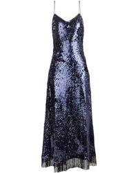 Blazé Milano Kelpie Manipur Sequined Fringed Dress - Blue