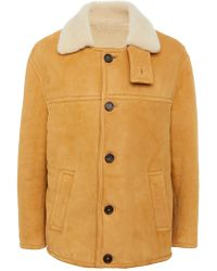 Marni - Suede And Shearling Coat - Lyst