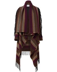 Dorothee Schumacher - Asymmetric Fringed Knitted Coat - Lyst