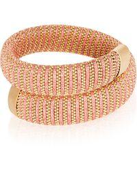 Carolina Bucci Coral Lurex Caro Gold-plated Bracelet - Pink