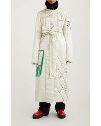 Marina Moscone Hand-quilted Virgin Wool-blend Coat - White