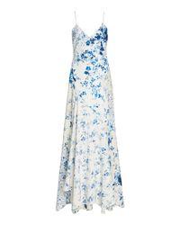 Ralph Lauren Kourtney Floral-print Crepe Gown - Blue