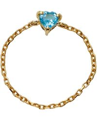 Yi Collection - 18k Gold Topaz Chain Ring - Lyst