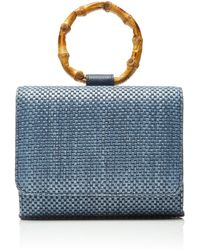 Glorinha Paranagua Celeste Straw Bag - Blue