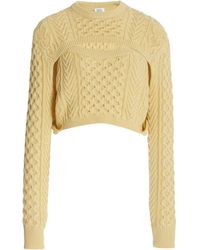 Rosie Assoulin Exclusive Thousand-in-one-ways Wool-cotton Jumper - Yellow