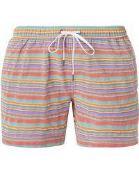 Onia - Charles Striped Swim Trunks - Lyst