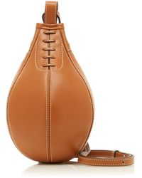 JW Anderson Small Punch Leather Crossbody Bag - Brown