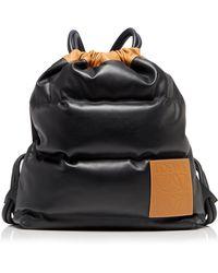 Loewe Yago Puffy Backpack - Black