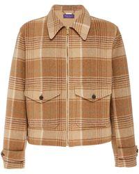 Ralph Lauren - Harvick Plaid Wool And Cashmere-blend Jacket - Lyst