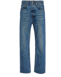 RE/DONE - High-rise Stovepipe Jeans - Lyst