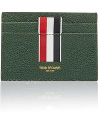 Thom Browne - Pebble-grain Leather Cardholder - Lyst