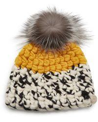 Mischa Lampert Color-block Wool Beanie - Yellow
