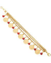 Ben-Amun Layered 24k Gold-plated Glass Bracelet