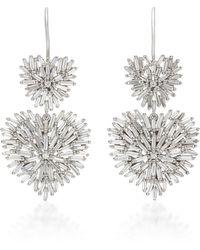 Suzanne Kalan Double Heart 18k White-gold Drop Earrings
