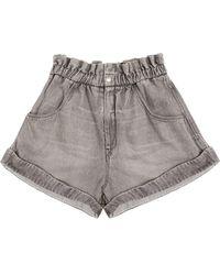 Étoile Isabel Marant Itea Denim Shorts - Grey