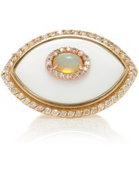 Marlo Laz - Eyecon Diamond And 14k Gold Ring - Lyst