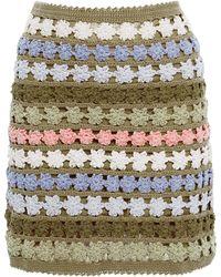 She Made Me - Maala Cotton Crochet Skirt - Lyst