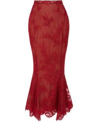 Marchesa - M'o Exclusive Floral Mermaid Skirt - Lyst