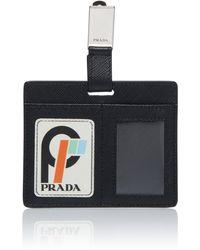Prada Saffiano Patch 2 Clip - Black