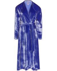 Thierry Colson Sacha Velvet Robe - Purple