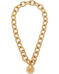 Bottega Veneta 18k Gold-plated Sterling Silver Necklace - Metallic