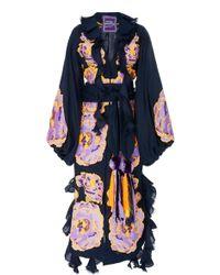 Yuliya Magdych - Marigold Embroidered Linen Caftan - Lyst