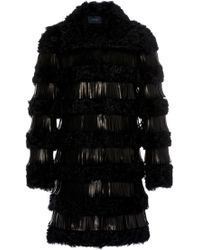 Giambattista Valli - Fur Coat With Leather Fringe - Lyst