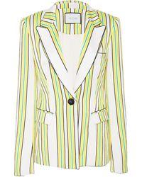 Alexis Edana Single Breasted Striped Blazer - Multicolour