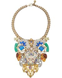 Lulu Frost One-of-a-kind Gold-plated Crystal Necklace - Multicolour