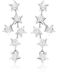 Jennifer Behr Nova Crystal Drop Earrings - Metallic