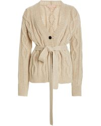 Brock Collection Replenish Belted Cashmere Cardigan - Natural