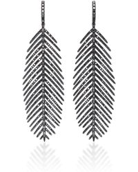 Sidney Garber - 18k Feathers That Move Black Diamond Earrings - Lyst