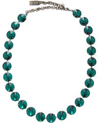 N°21 Strass Necklace - Green