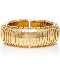 Sidney Garber - 18k Yellow Gold Domed Cuff - Lyst