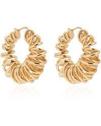 Bottega Veneta Gold-plated Spiral Hoop Earrings - Metallic