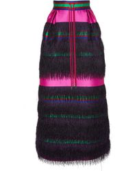 Prabal Gurung - Nahagi Silk Fringe Skirt - Lyst