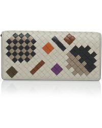 Bottega Veneta - Chain Strap Artsy Leather Wallet - Lyst