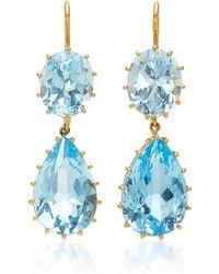 Renee Lewis - Antique Aquamarine Earrings - Lyst