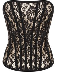 Rasario - Leavers Lace Bustier Top - Lyst