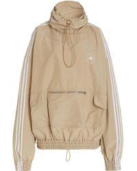 Stella McCartney +adidas Jayla Oversized Cotton-blend Hoodie - Natural