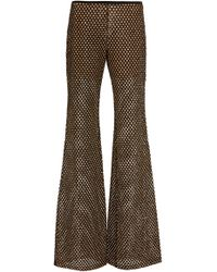 e6de515026a Lyst - Michael Kors Sequined Mesh Flared Pants in Metallic