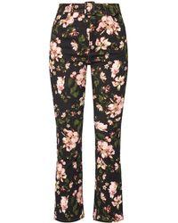 Erdem Vina Floral Printed Stretch High-rise Straight-leg Jeans - Multicolour