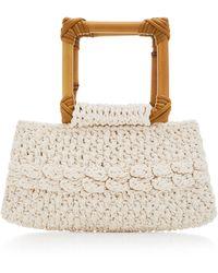 Nannacay Ébano Macramé Handle Bag - White