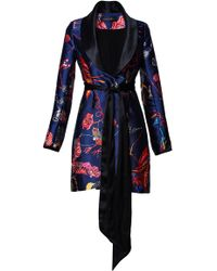 Romance Was Born - Midnight Bloom Belted Satin Jacket - Lyst