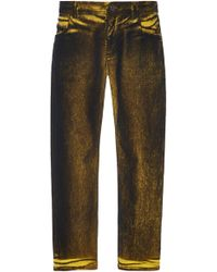 N°21 Procopio Low-rise Cropped Jeans - Yellow