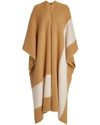 JOSEPH Brushed Alpaca-blend Kaftan - Brown