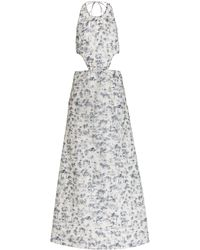 Sir. The Label - Dimitri Open-back Printed Cotton-silk Maxi Dress - Lyst